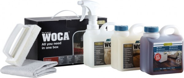 Woca Pflegebox Weiss mit Pflegeöl