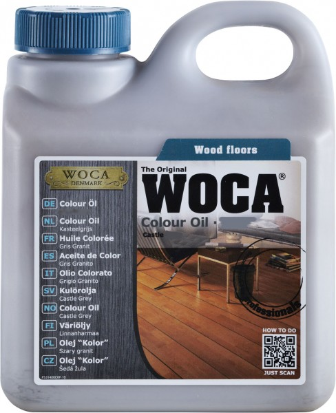 Woca Colouröl 1 Liter-Dunkelrotbraun