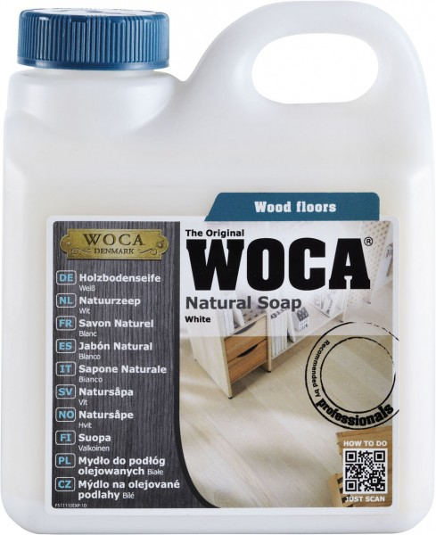 Woca Holzbodenseife Weiss 1 Liter